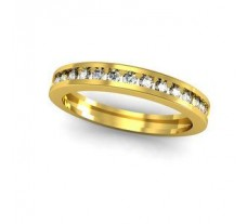Natural Diamond Band 0.30 CT / 2.22 gm Gold