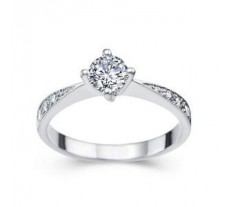 Diamond Solitaire Ring 0.37 CT / 2.50 gm Gold