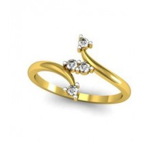Natural Diamond Designer Ring 0.11 CT / 1.78 gm Gold