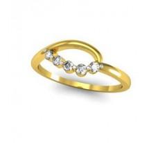 Natural Diamond Designer Ring 0.13 CT / 2.33 gm Gold