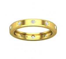 Natural Diamond Band 0.45 CT / 4.52 gm Gold
