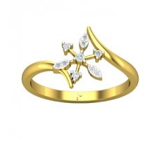 Natural Diamond Designer Ring 0.08 CT / 2.30 gm Gold