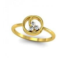 Natural Diamond Designer Ring 0.08 CT / 2.15 gm Gold