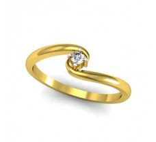 0.05 CT Natural Diamond Ring in 1.80gm Hallmarked Gold