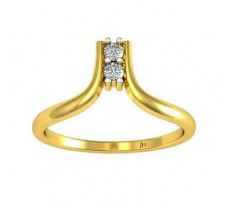 Natural Diamond Ring 0.08 CT / 2.04 gm Gold