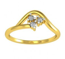 Natural Diamond Ring 0.07 CT / 1.90 gm Gold