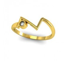 Natural Diamond Ring 0.05 CT / 1.57 gm Gold
