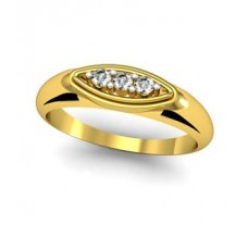 Natural Diamond Ring 0.09 CT / 2.90 gm Gold