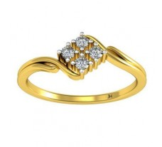Natural Diamond Ring 0.10 CT / 2.09 gm Gold