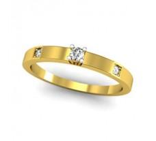 Natural Diamond Band 0.09 CT / 2.29 gm Gold