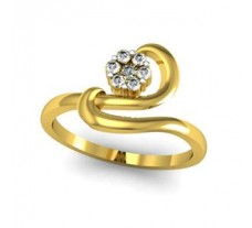 Natural Diamond Ring 0.12 CT / 2.58 gm Gold