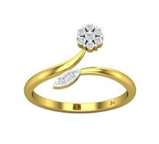 Natural Diamond Ring 0.17 CT / 2.30 gm Gold