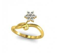 Natural Diamond Ring 0.17 CT / 2.25 gm Gold