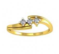 0.09 CT Natural Diamond Designer Ring in 2.10 gm Hallmarked Gold