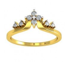 Natural Diamond Designer Ring 0.16 CT / 2.58 gm Gold