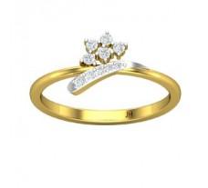 Natural Diamond Designer Ring 0.14 CT / 2.10 gm Gold