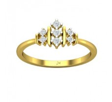 Natural Diamond Designer Ring 0.13 CT / 2.49 gm Gold