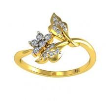 Natural Diamond Designer Ring 0.15 CT / 2.76 gm Gold