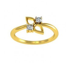 0.10 CT Natural Diamond Designer Ring in 2.60gm Hallmarked Gold
