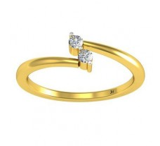 0.08 CT Natural Diamond Designer Ring in 2.29 gm Hallmarked Gold