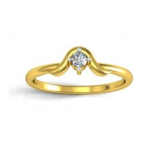 Natural Diamond Designer Ring 0.07 CT / 2.26 gm Gold