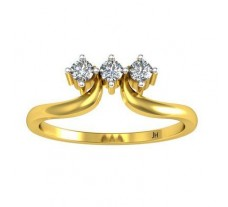 Natural Diamond Designer Ring 0.13 CT / 2.59 gm Gold