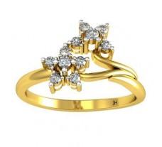 Natural Diamond Designer Ring 0.14 CT / 2.40 gm Gold