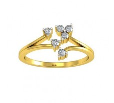 Natural Diamond Designer Ring 0.10 CT / 2.75 gm Gold