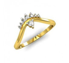 Natural Diamond Designer Ring 0.10 CT / 2.53 gm Gold
