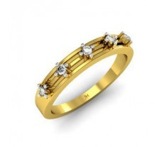 Natural Diamond Designer Ring 0.11 CT / 3.55 gm Gold