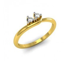 Natural Diamond Designer Ring 0.09 CT / 2.17 gm Gold