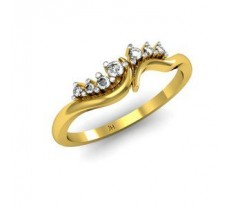 Natural Diamond Designer Ring 0.08 CT / 2.43 gm Gold