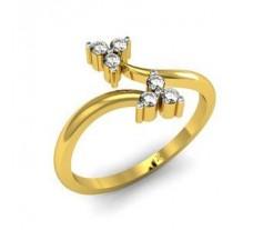 Natural Diamond Designer Ring 0.13 CT / 2.63 gm Gold