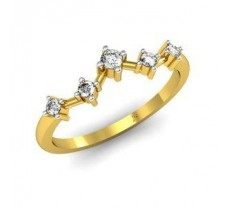 Natural Diamond Designer Ring 0.13 CT / 2.08 gm Gold