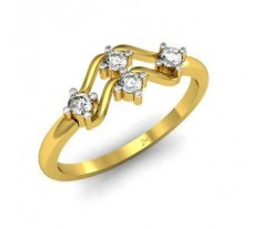 Natural Diamond Designer Ring 0.16 CT / 2.35 gm Gold