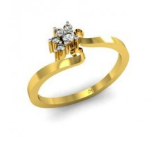 Natural Diamond Designer Ring 0.08 CT / 2.42 gm Gold