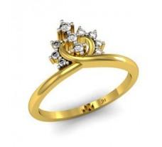 Natural Diamond Designer Ring 0.12 CT / 3.02 gm Gold