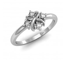 Natural Diamond Designer Ring 0.14 CT / 2.40 gm Gold