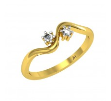 Natural Diamond Designer Ring 0.10 CT / 2.00 gm Gold