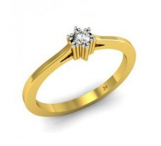 Natural Diamond Designer Ring 0.07 CT / 2.33 gm Gold