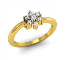 Natural Diamond Ring 0.20 CT / 2.10 gm Gold