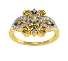 Natural Diamond Ring 0.32 CT / 2.80 gm Gold