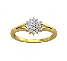 Natural Diamond Ring 0.21 CT / 2.25 gm Gold