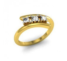 Natural Diamond Ring 0.24 CT / 2.40 gm Gold