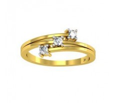 Natural Diamond Ring 0.195 CT / 2.20 gm Gold