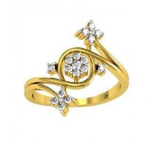 Natural Diamond Ring 0.31 CT / 2.88 gm Gold