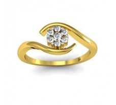 Natural Diamond Ring 0.12 CT / 1.98 gm Gold
