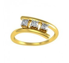 Natural Diamond Ring 0.19 CT / 1.90 gm Gold
