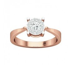 Natural Diamond Ring 0.34 CT / 2.38 gm Gold