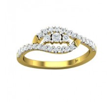 Natural Diamond Ring 0.38 CT / 2.45 gm Gold